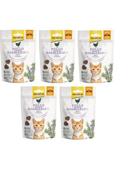 Gimcat Crunchy 5 Adet Snacks Chicken & Rosmery Kedi Ödülü 50 gr Tahılsız