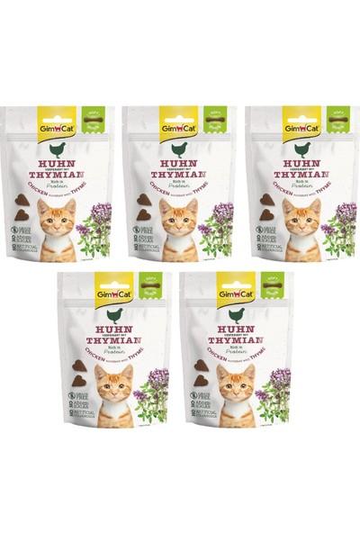 Gimcat Soft Snacks 5 Adet Chicken & Thyme Tahılsız Kedi Ödül 60GR