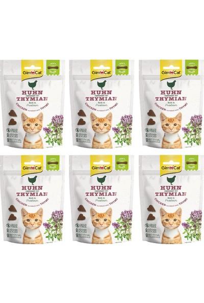 Gimcat Soft Snacks 6 Adet Chicken & Thyme Tahılsız Kedi Ödül 60GR