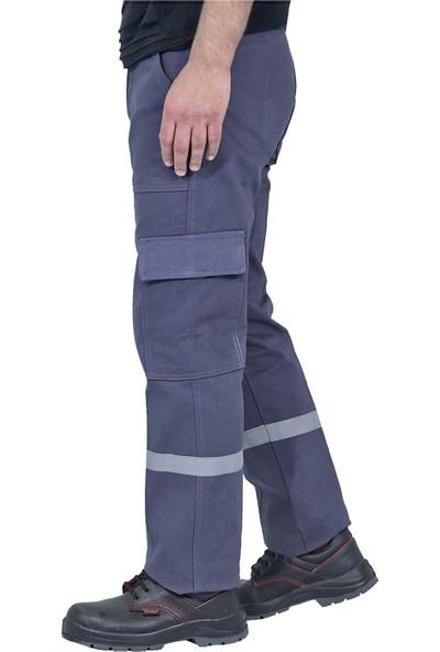 Şensel, Reflektörlü Kışlık İş Pantolonu, Gri, Komando Cepli (73E832)