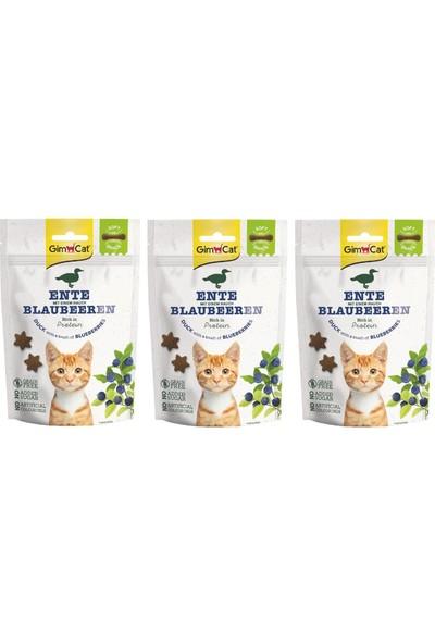 Gimcat Soft Snacks 3 Adet Duck & Blueberry Tahılsız Kedi Ödül 60GR