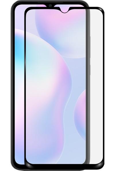 Kzy Xiaomi Redmi 9A Tam Kaplayan Temperli Ekran Koruyucu Cam
