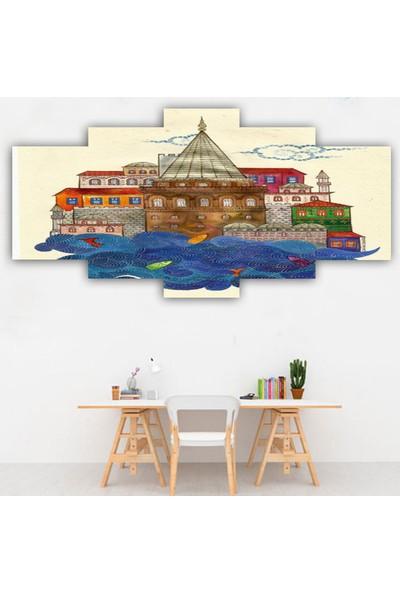 Dekorme 5 Parçalı Istanbul Kanvas Tablo 110 x 60 cm
