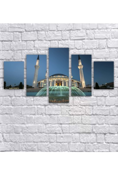 Dekorme 5 Parçalı Islami Kanvas Tablo 110 x 60 cm