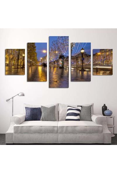 Dekorme 5 Parçalı Manzara Kanvas Tablo 110 x 60 cm
