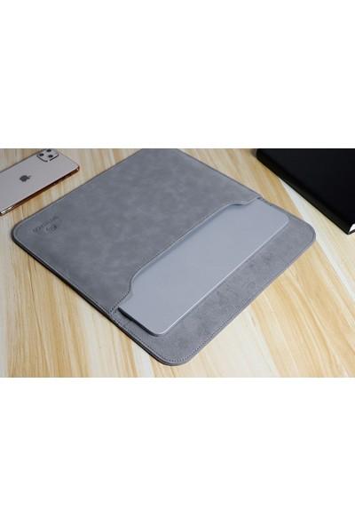 "Wessleco Ht Waterproof Macbook Laptop 15"" Nubuk Çanta 40X28 cm Gri"