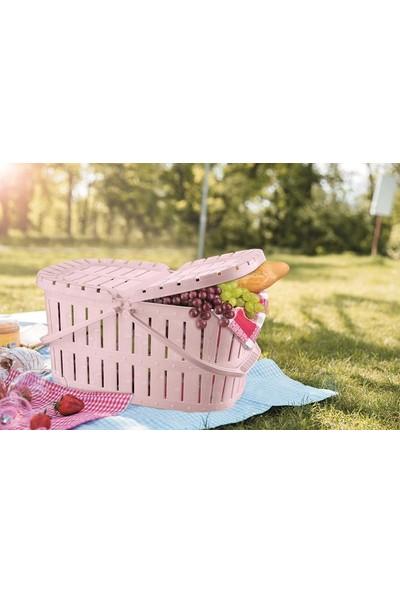 Tuffex Ahşap Görünümlü Piknik Sepeti 32'li