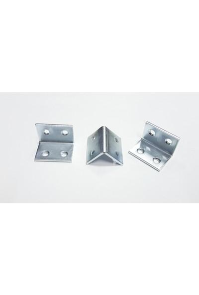 Şahin Köşe Birleştirme Demiri Dolap Bağlantı L Demiri Köşebent 10 Adet ( 3 cm x 2 cm x 2 Cm)