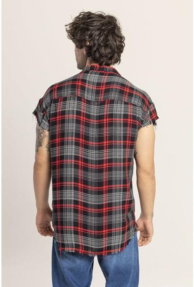 Xhan Siyah Kolsuz Oduncu Desen Gömlek 1KXE2-44814-02