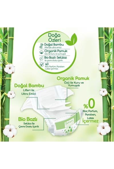 Bebem Natural Bebek Bezi 4 Beden Maxi Aylık Fırsat Paketi 180 Adet + Evony Maske 10'lu Hediyeli