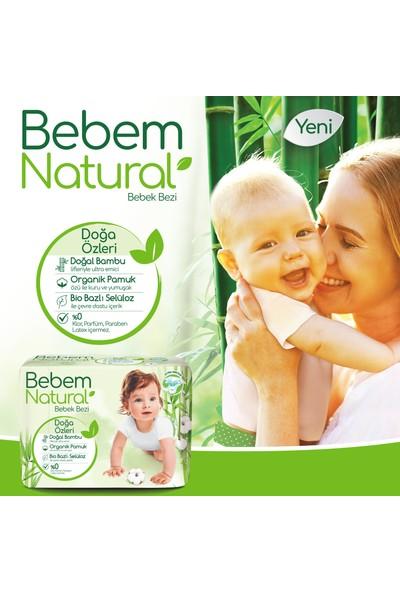 Bebem Natural Bebek Bezi 1 Beden Yenidoğan Aylık Fırsat Paketi 240 Adet + Evony Maske 10'lu Hediyeli