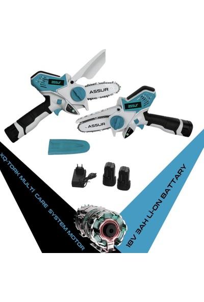 Assur Pro Magic Saw X-Torq 1800 Li-On Akülü Dal Kesme Testere Makinası