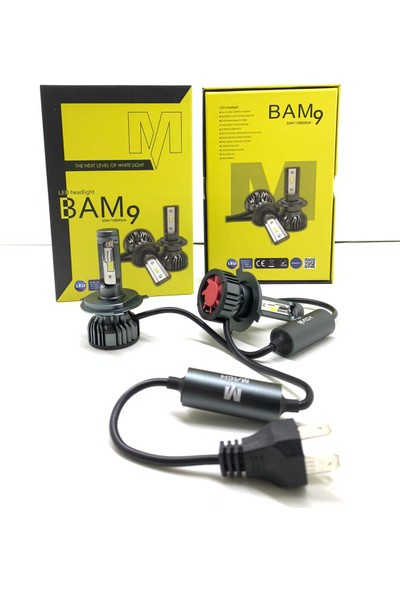 Mach Bam9 10800 Lümen H7 LED Xenon Far Slim Balans Şimşek Etkili Zenon