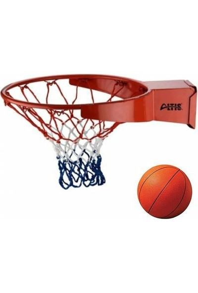 Masho Trend Fileli Basketbol Potası - Duvara Monte Fileli Basketbol Çemberi + Basketbol Topu