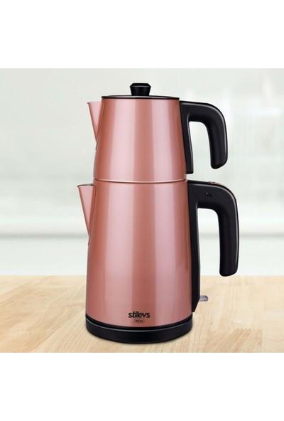 Stilevs Biçay Çelik Çay Makinesi Inox - Rose