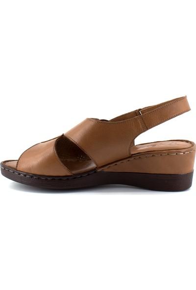 Venüs 21981113 Kadın Hakiki Deri Sandalet Taba
