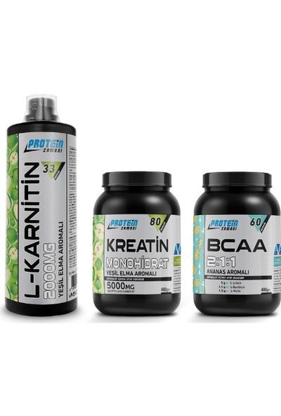 Protein Zamanı Bcaa 211 Kreatin Monohidrat Lkarnitin Paketi