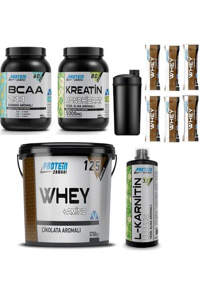 Protein Zamanı Whey Protein Tozu 3750 gr Bcaa Kreatin Lkarnitin Kombinasyonu