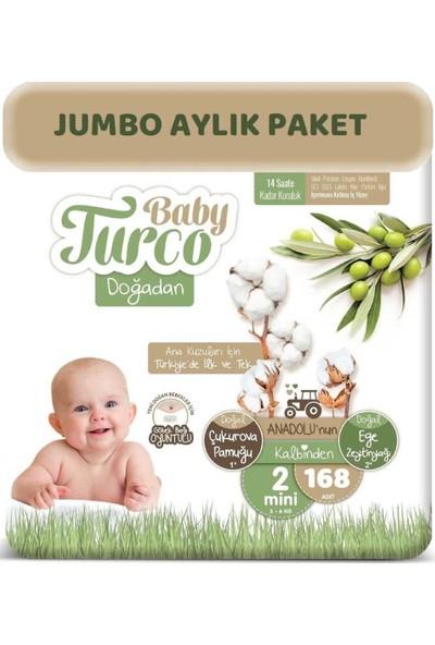 Baby Turco Bebek Bezi Natural Jumbo Aylık Paket Beden: 2 (3 - 6 Kg) Mini 168'LI