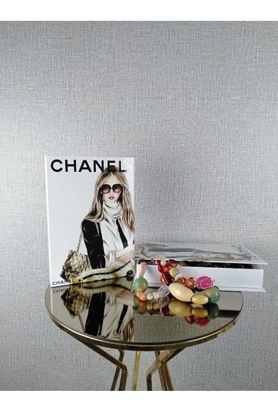 Arkeon Home Dekoratif Kitap Kutusu -Chanel Model