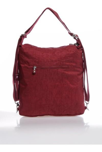 Smart Bags SMBKY1205-0021 Bordo Kadın Omuz ve Sırt Çantası