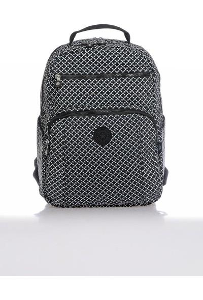 Smart Bags SMB3067-0127 Siyah/beyaz Kadın Sırt Çantası