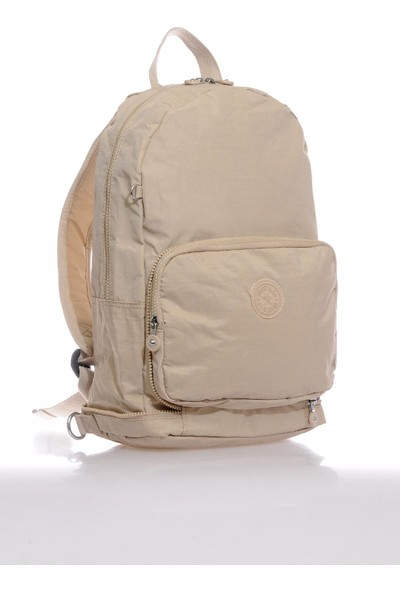 Smart Bags SMB3080-0003 Bej Kadın Katlanabilir Sırt Çantası