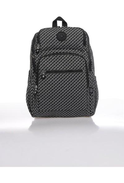 Smart Bags SMBK3084-0127 Siyah/beyaz Kadın Sırt Çantası