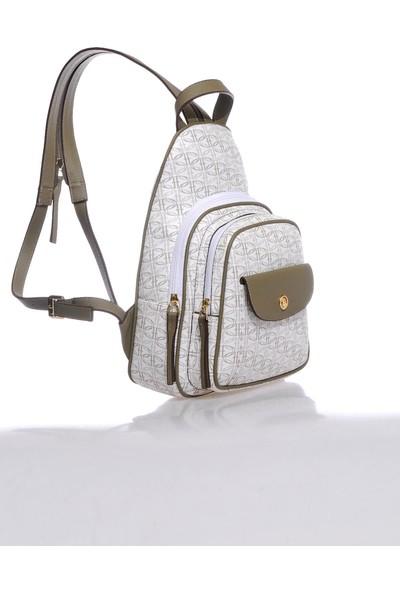 U.s. Polo Assn. US21056 Y.beyaz-Hakı Kadın Sırt Çantası