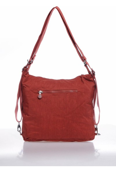 Smart Bags SMBK1118-0128 Kiremit Kadın Sırt ve Omuz Çantası