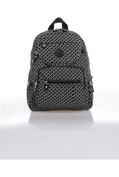 Smart Bags SMBK3085-0127 Siyah/beyaz Kadın Sırt Çantası