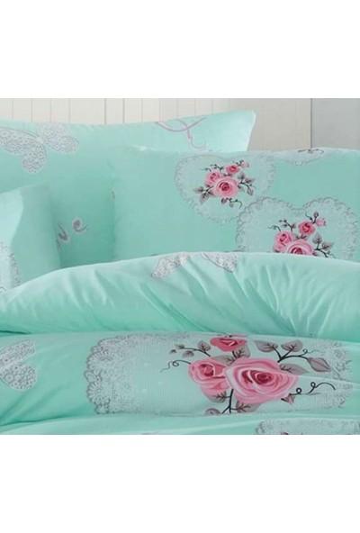 İyi Geceler İstanbul Cotton Life %100 Pamuklu Pikeli Çift Kişilik Kutulu Çeyizlik Pike Takımı Alice Mint