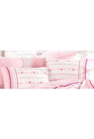 İyi Geceler İstanbul Cotton Life %100 Pamuklu Pikeli Çift Kişilik Kutulu Çeyizlik Pike Takımı Amie Pembe