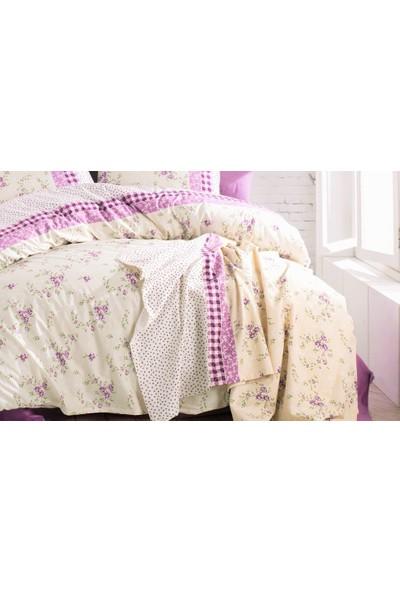 İyi Geceler İstanbul Cotton Life %100 Pamuklu Pikeli Tek Kişilik Kutulu Pike Takımı Petit Lila