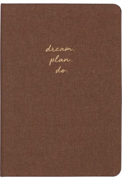 Matt Notebook Sert Kapak Noktalı Defter Kahverengi 14 x 20 cm