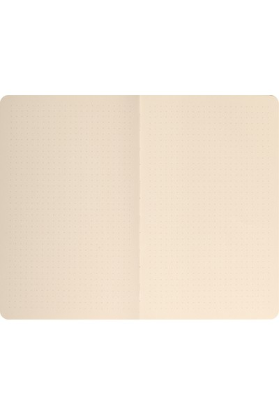 Matt Notebook Sert Kapak Noktalı Defter Bej 14 x 20 cm