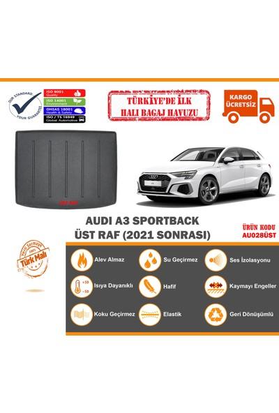 Öziş Audi A3 Sportback Üst Raf Halı Bagaj Havuzu (2021 Sonrası)