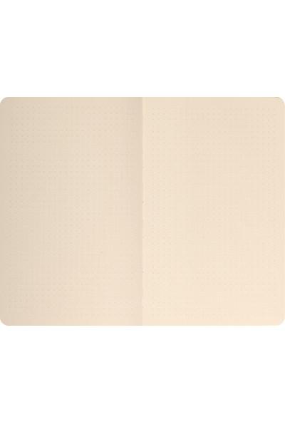 Matt Notebook Sert Kapak Noktalı Defter Hardal 14 x 20 cm