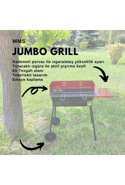 Mms Jumbo Grill Büyük Mangal ( Izgara Ölçüsü : 34X63 cm )