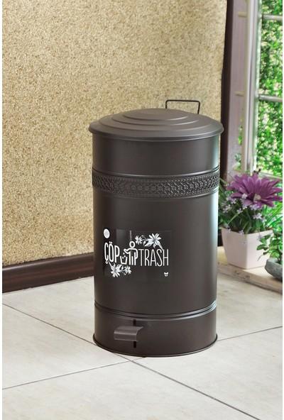 Yıldıray Metal Çöp Kovası Pedallı 30LT Siyah