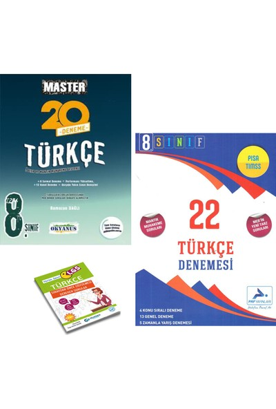 Okyanus LGS Master Türkçe 20 Deneme ve Paraf Türkçe 22'li Deneme + Yerim Seni LGS Türkçe