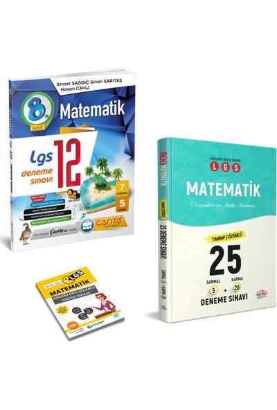 Çanta LGS Matematik Deneme ve Editör LGS Matematik 25 Deneme + Yerim Seni LGS