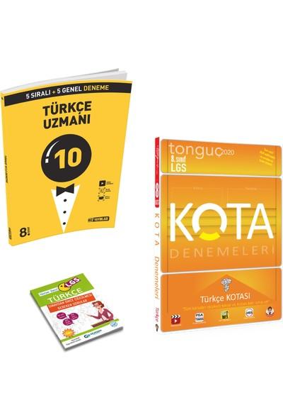 Hız LGS Uzman Türkçe Deneme ve Tonguç Kota Türkçe Kotası + Yerim Seni LGS Türkçe