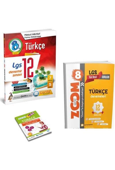 Çanta LGS Türkçe Deneme Sınavı ve Günay Zoom Türkçe Deneme + Yerim Seni LGS Türkçe