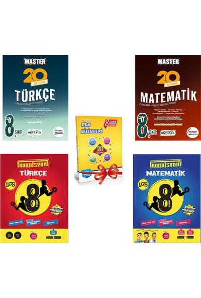 Okyanus Master ve Newton Kondisyon 8. Sınıf LGS Türkçe - Matematik Deneme Seti + 20 Fen Deneme