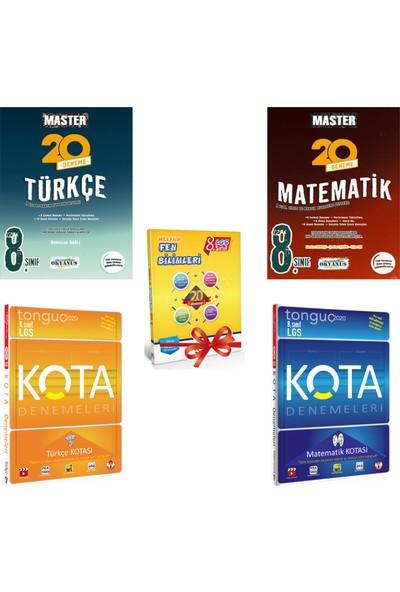 Okyanus Master ve Tonguç Kota 8. Sınıf LGS Türkçe - Matematik Deneme Seti + 20 Fen Deneme