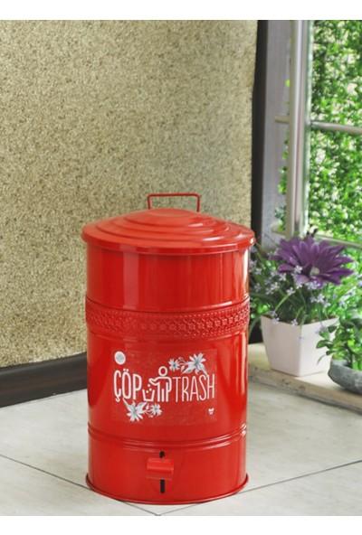 Yıldıray Metal Çöp Kovası Pedallı 16LT Kırmızı