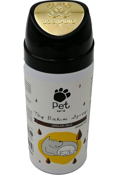 Pet Love Çikolata Özlü Kedi ve Köpek Tüy Bakım Spreyi 150 ml