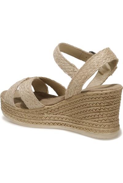 Butigo Riggi 1fx Naturel Kadın Dolgu Topuklu Sandalet