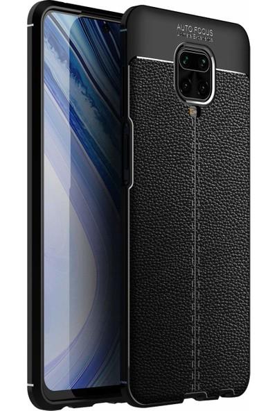 Case Markt Xiaomi Redmi Note 9 Pro Elegance Deri Dokulu Ultra Ince Silikon Telefon Kılıfı